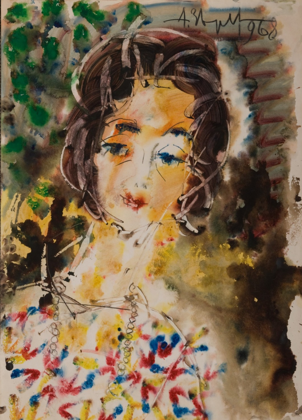 Anatoly Zverev. Portrait of Pauline