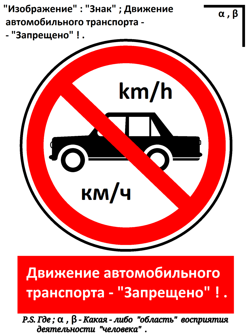 """Arthur Gabdrupes. """"Image"""": """"Sign""""; Road traffic - """"Forbidden""""! ... 2021"""
