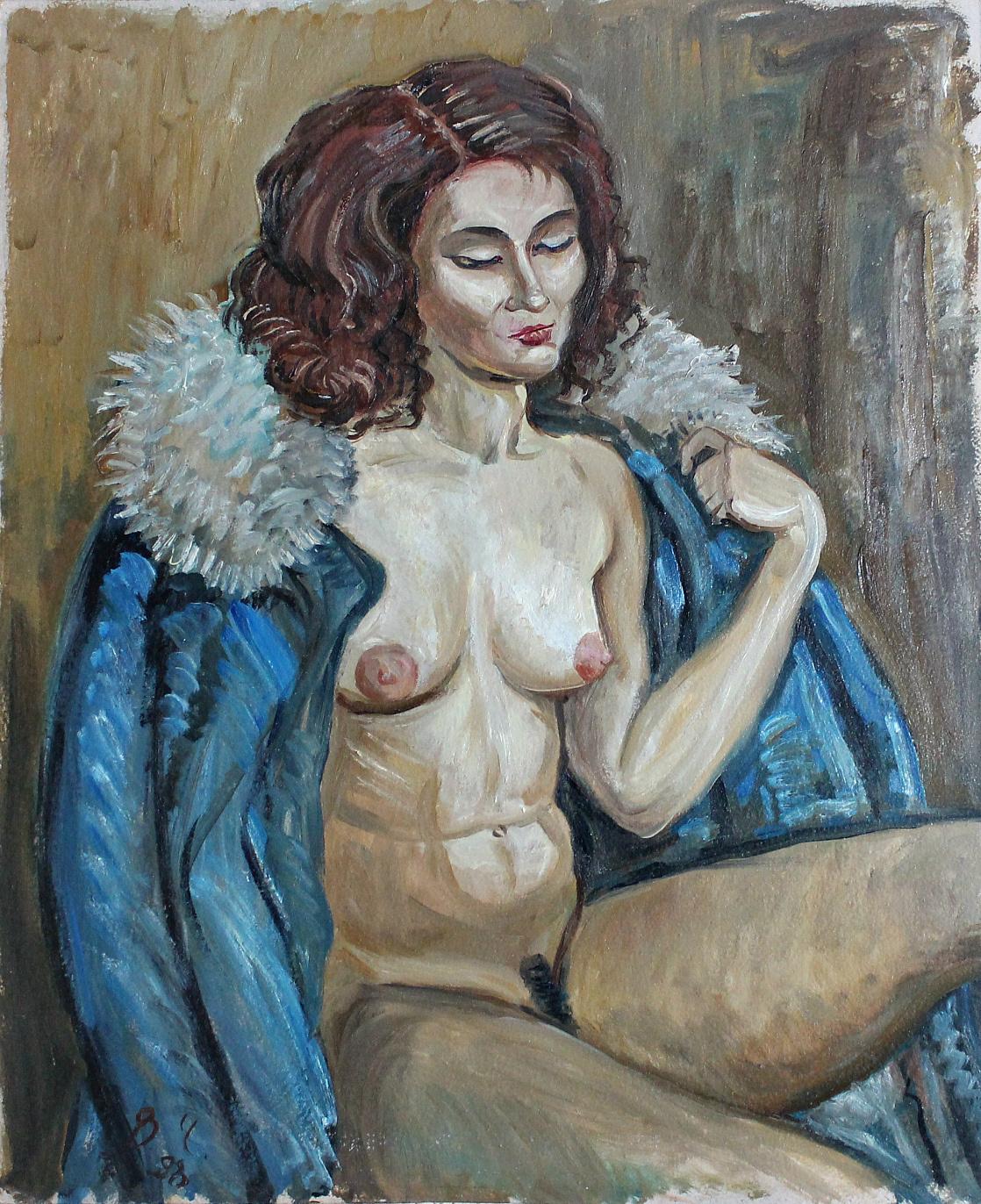 Vladimir Churkin. Model in a coat
