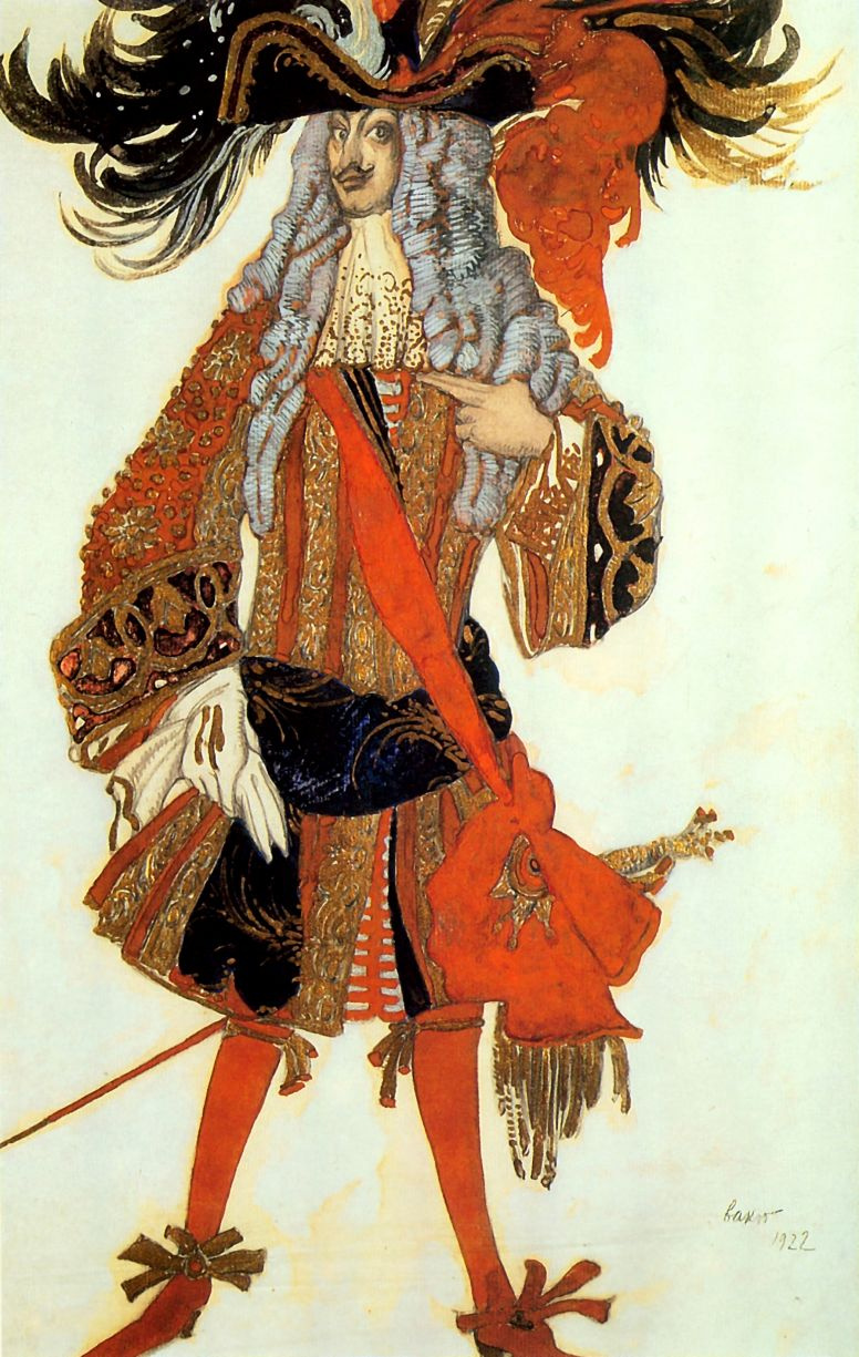 "Lev (Leon) Bakst. Costume design Mentor the Prince to the Tchaikovsky ballet ""the Sleeping Princess"""