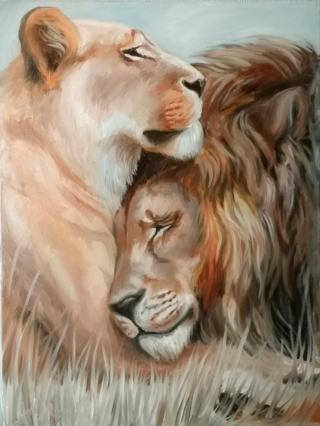 Lyuba Diker. Lions in love