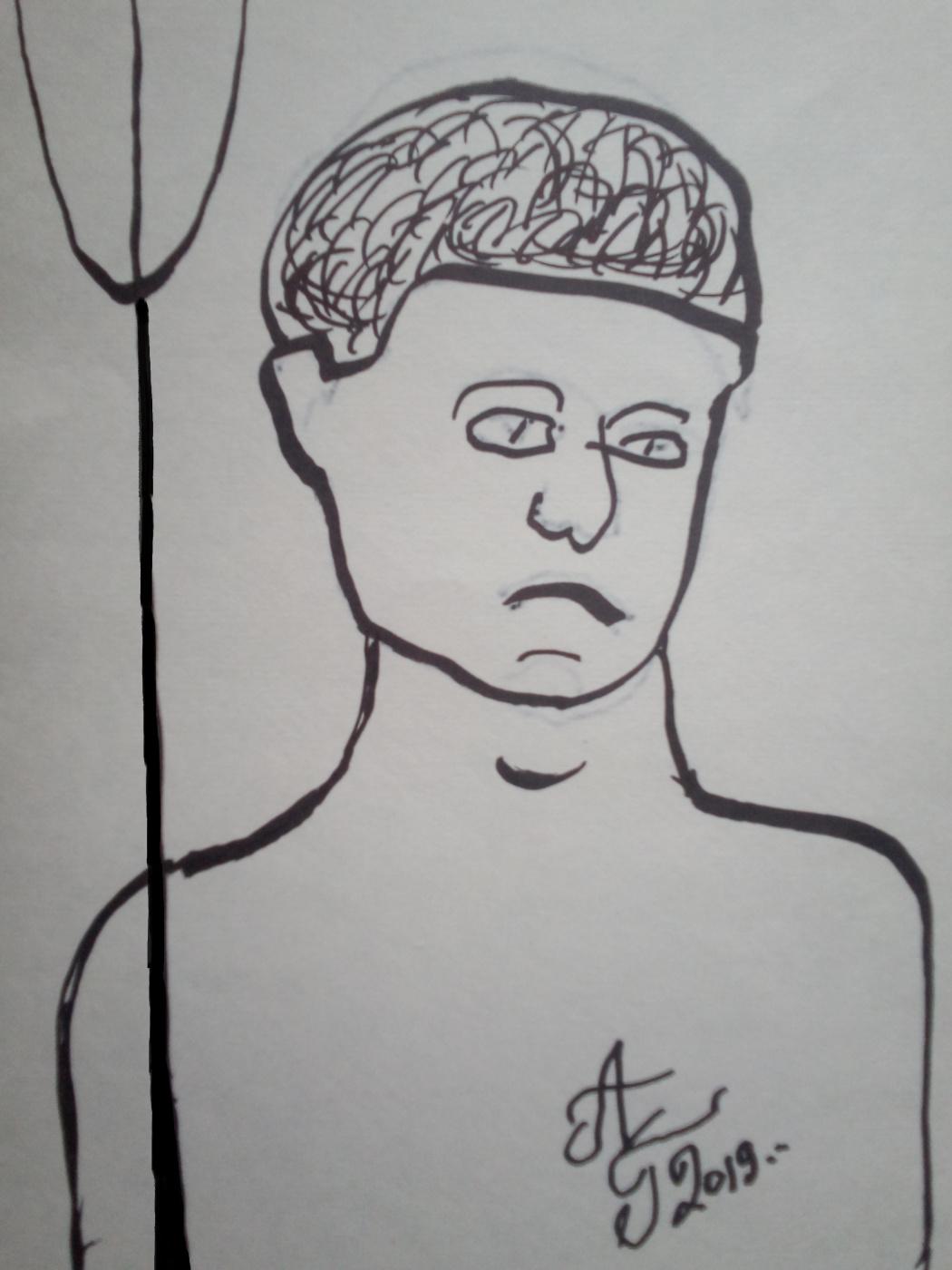 "Alexey Grishankov (Alegri). ""Athlete with a paddle"""