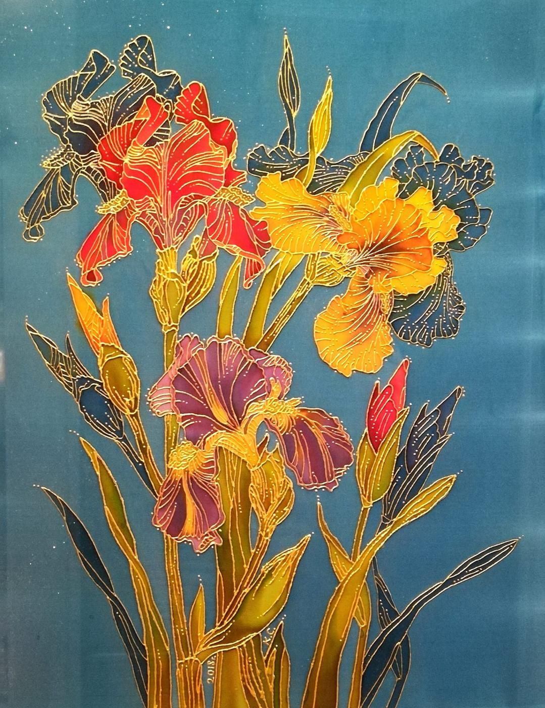 Ксения Михайловна Стеценко. Irises
