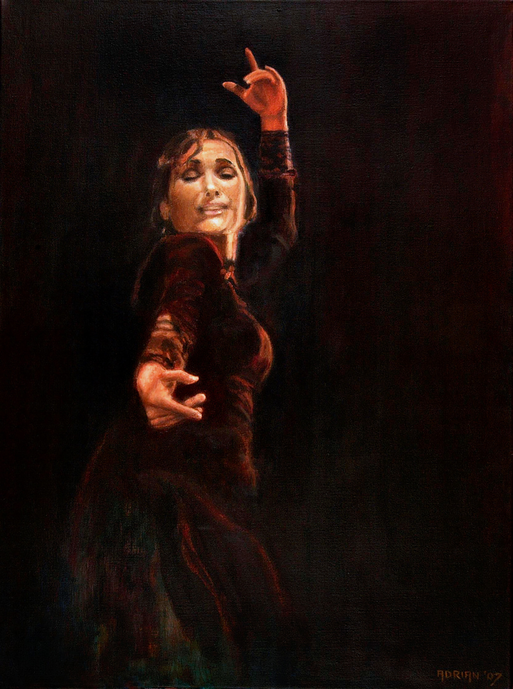 Adrian Rooymans. Flamenco dancer Eva Yerbabuena