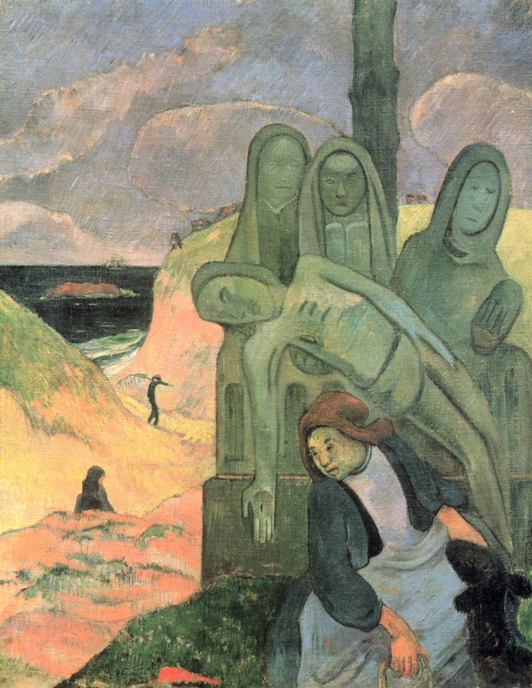 Paul Gauguin. Green Christ