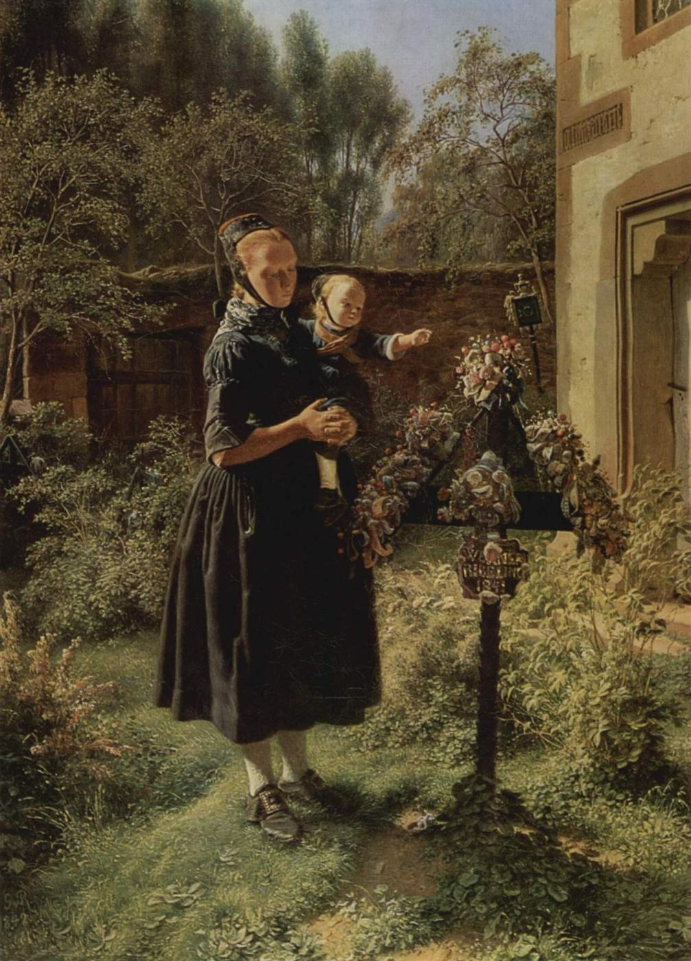 Evgraf (Gerard) Romanovich Reitern. In the garden.