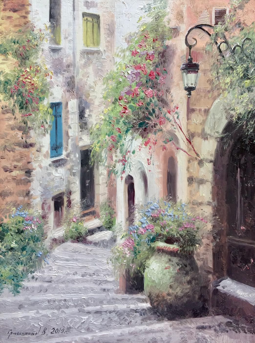 Vasily Ivanovich Gribennikov. Little street Italy