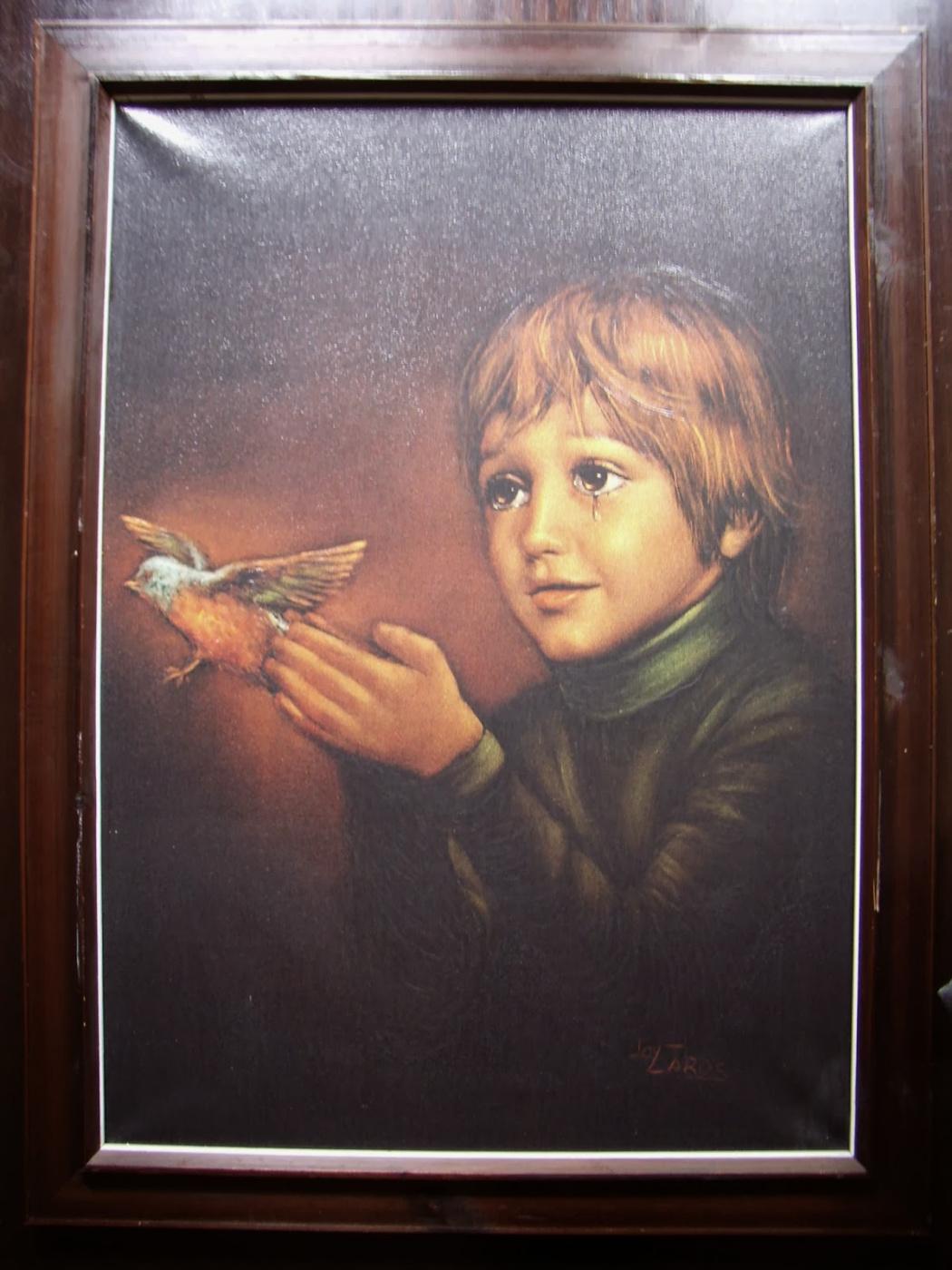 """Джой Карос. """"Boy with bird""""."""