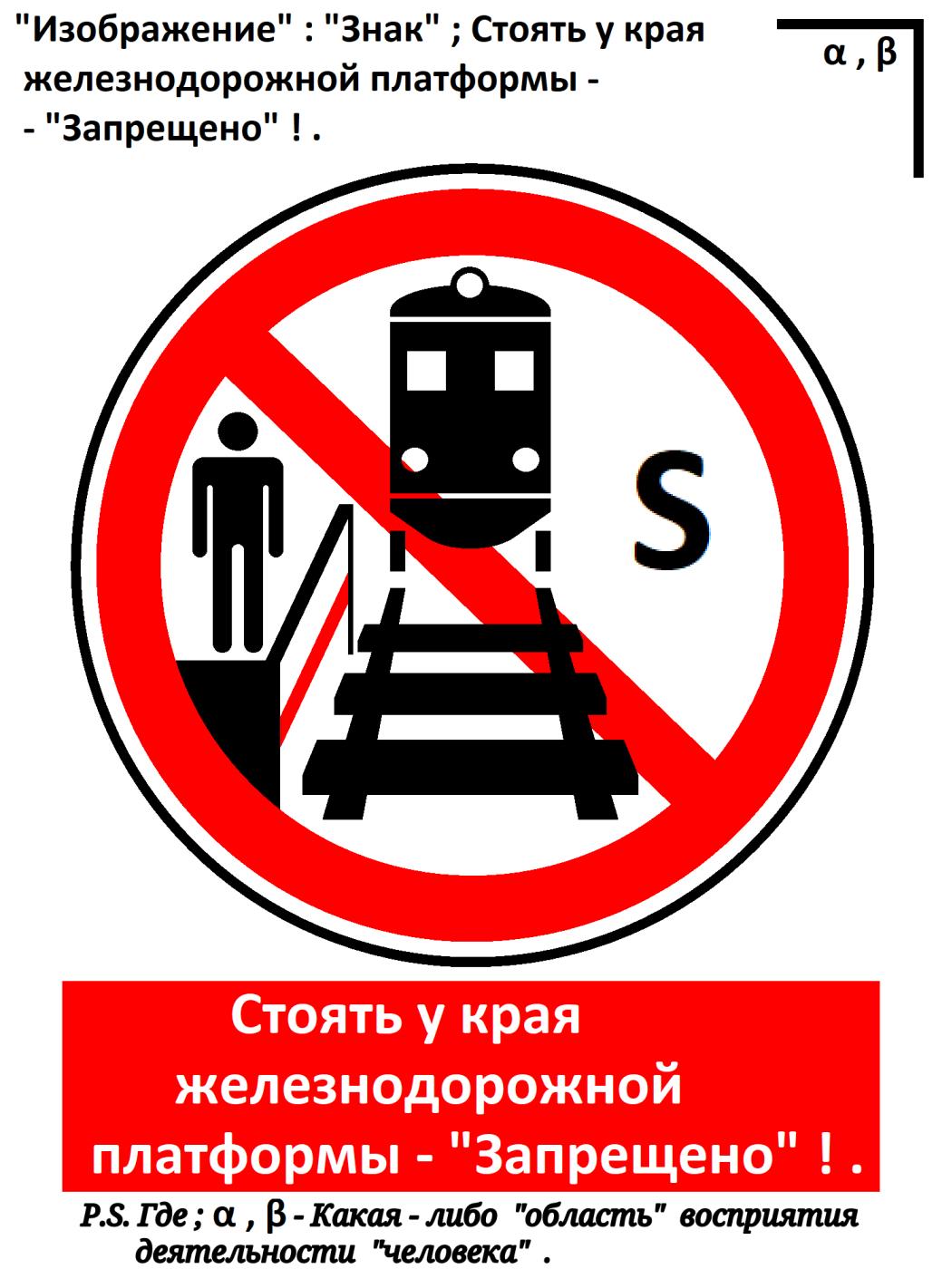 "Arthur Gabdrupes. ""Image"": ""Sign""; Standing at the edge of the railway platform - ""Forbidden""! ... 2021"