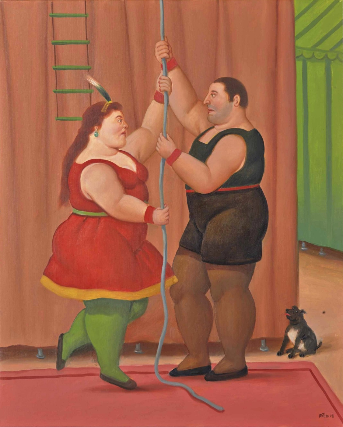 Fernando Botero. The Trapezists
