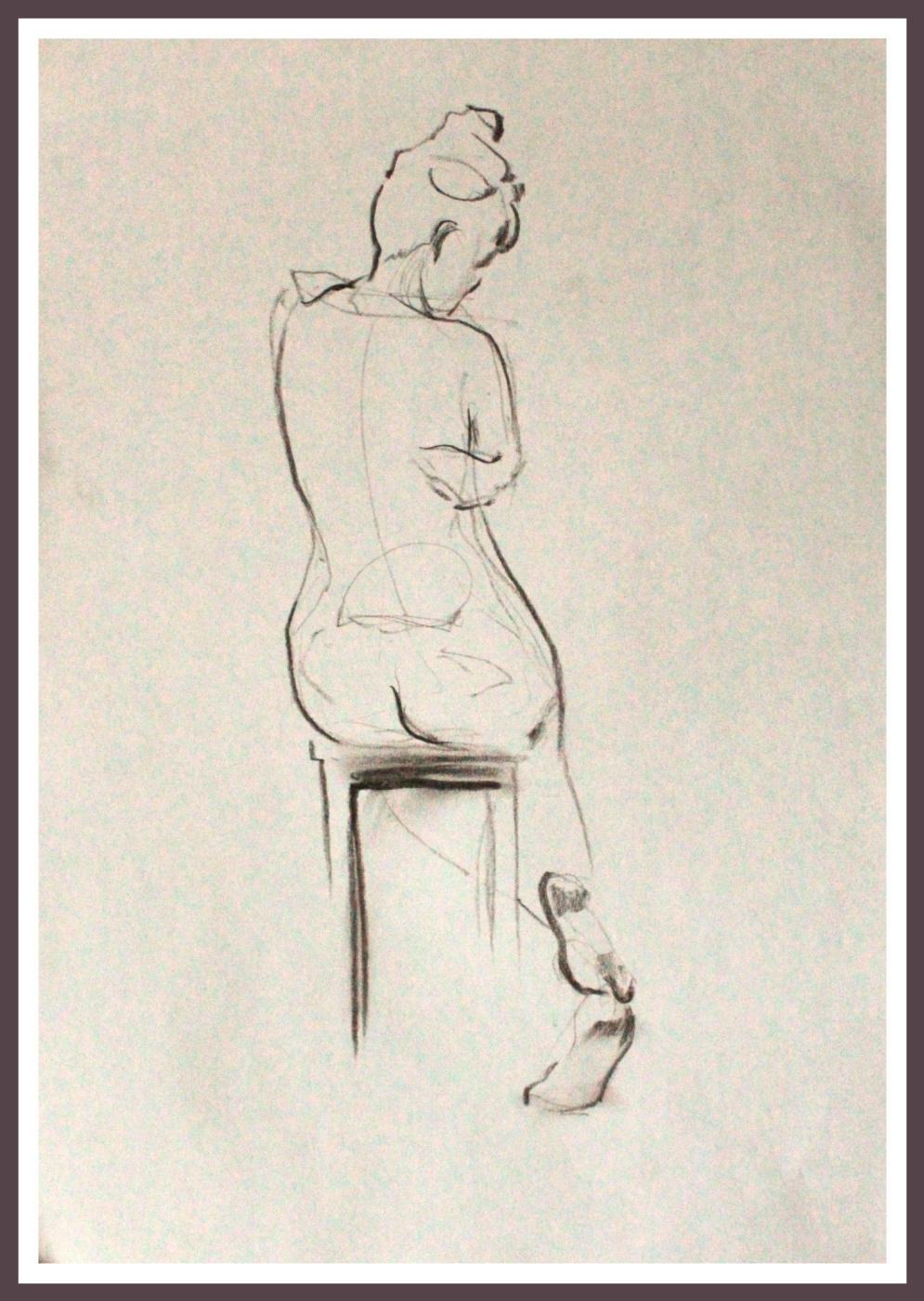 Maria Alekseevna Shiryaeva. Hug (Sketch of model)