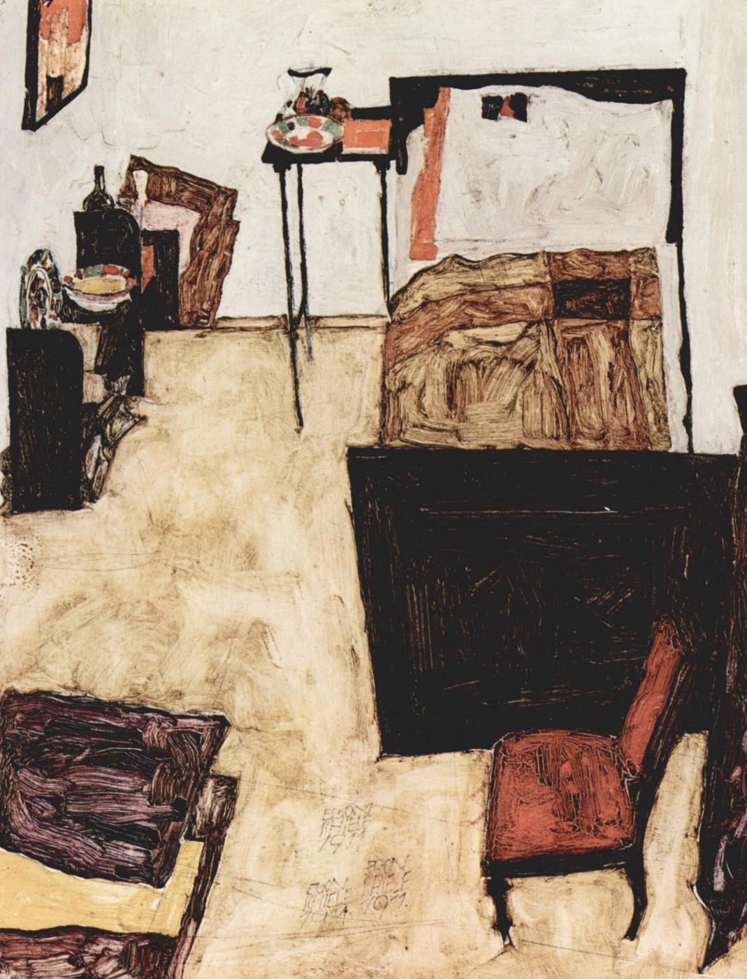Egon Schiele. Bedroom Schiele in Neulengbach