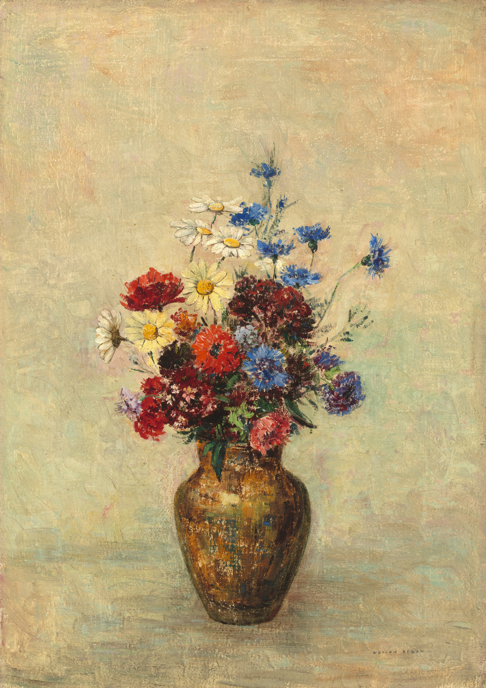 Odilon Redon. Flowers in a vase