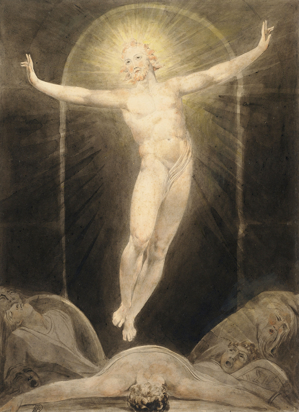 William Blake. Illustrations of the Bible. Sunday