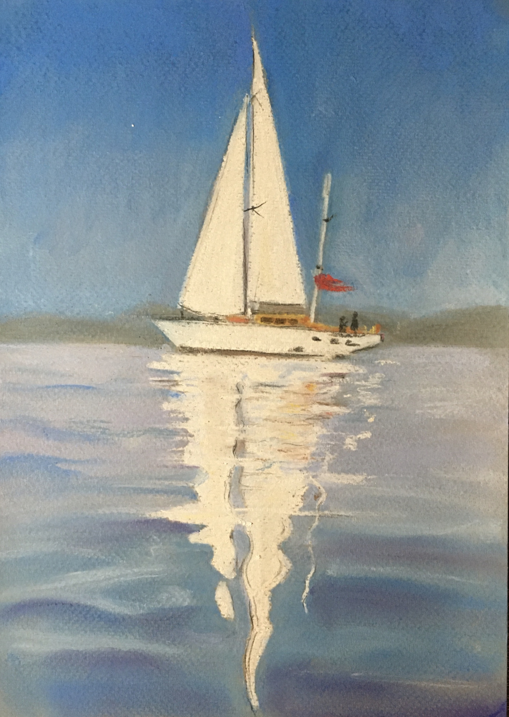 Maria Alexandrovna Kaloshina. Sail reflection