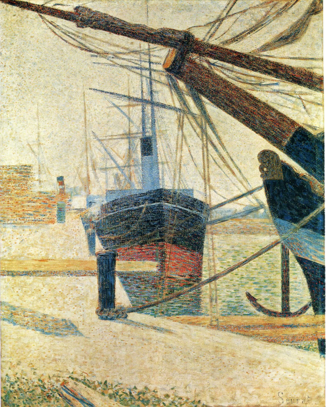 Georges Seurat. In the Harbor