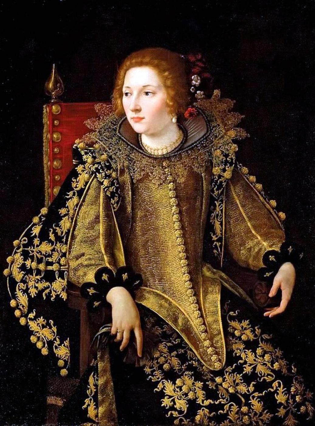 Artemisia Gentileschi. Portrait of a sitting lady