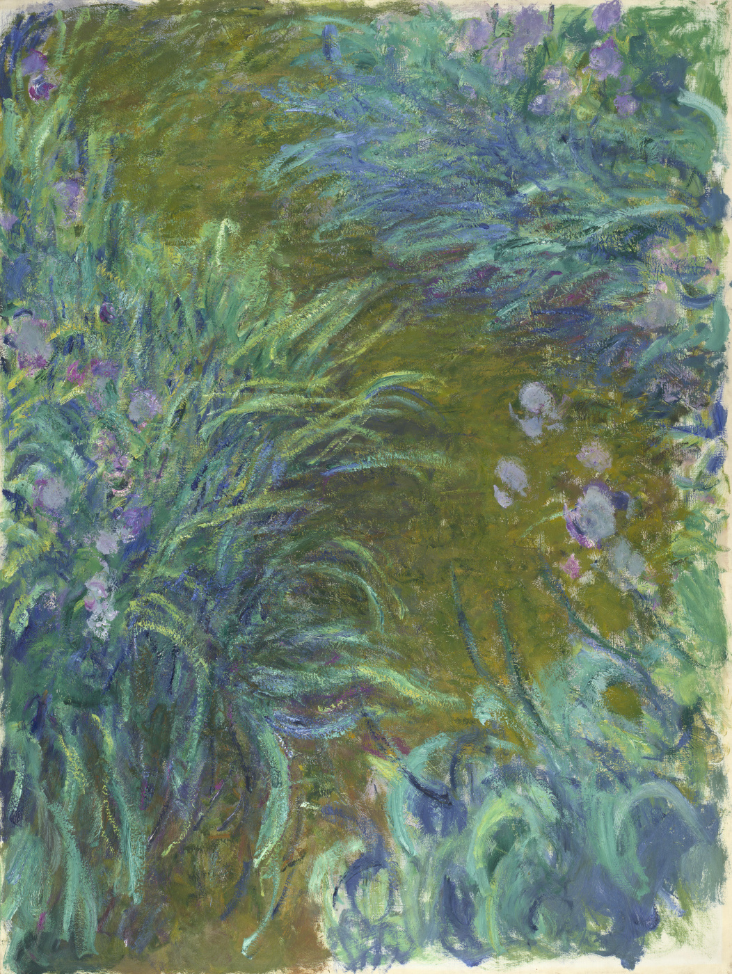 Claude Monet. The path in the iris