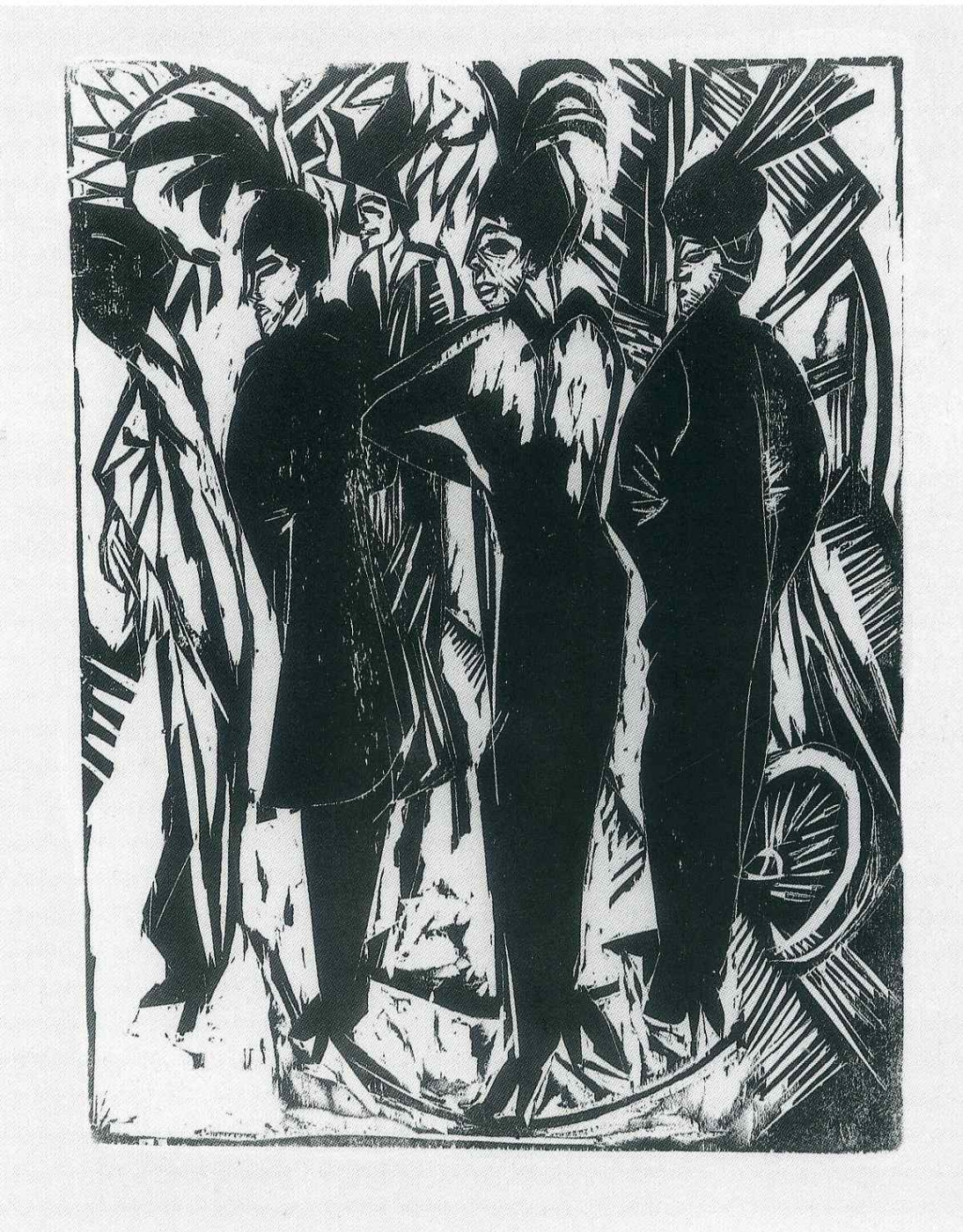 Ernst Ludwig Kirchner. Five women on the street