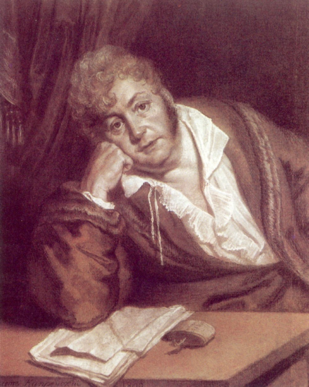 Orest Adamovich Kiprensky. Portrait of Vasily Denisovich Davydov