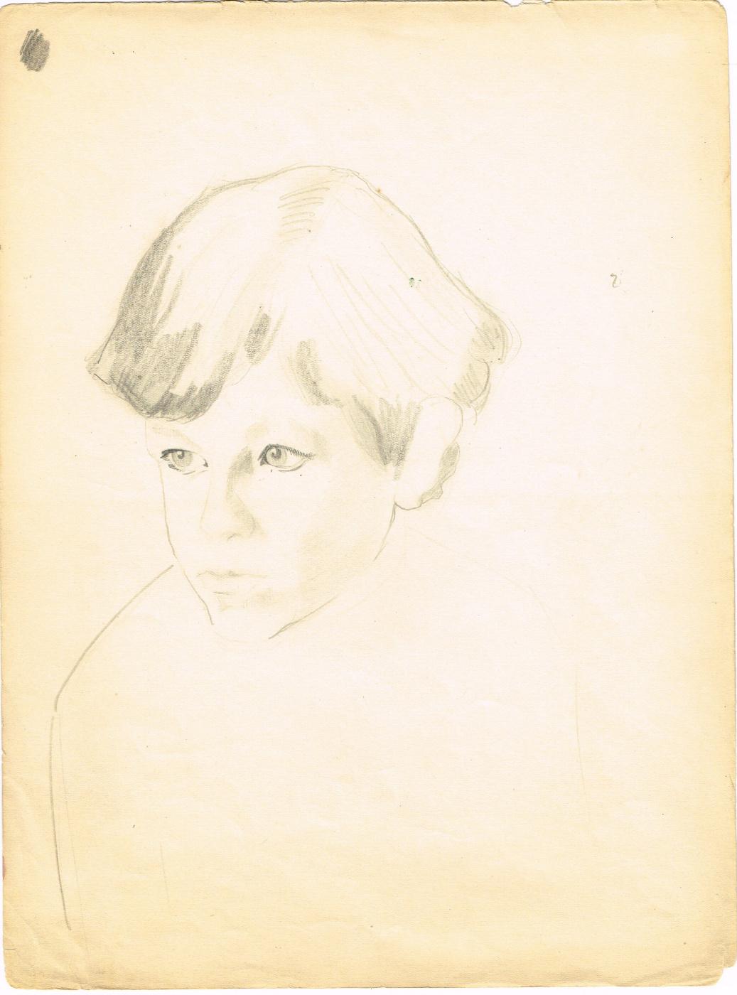 Unknown artist. Portrait of a boy