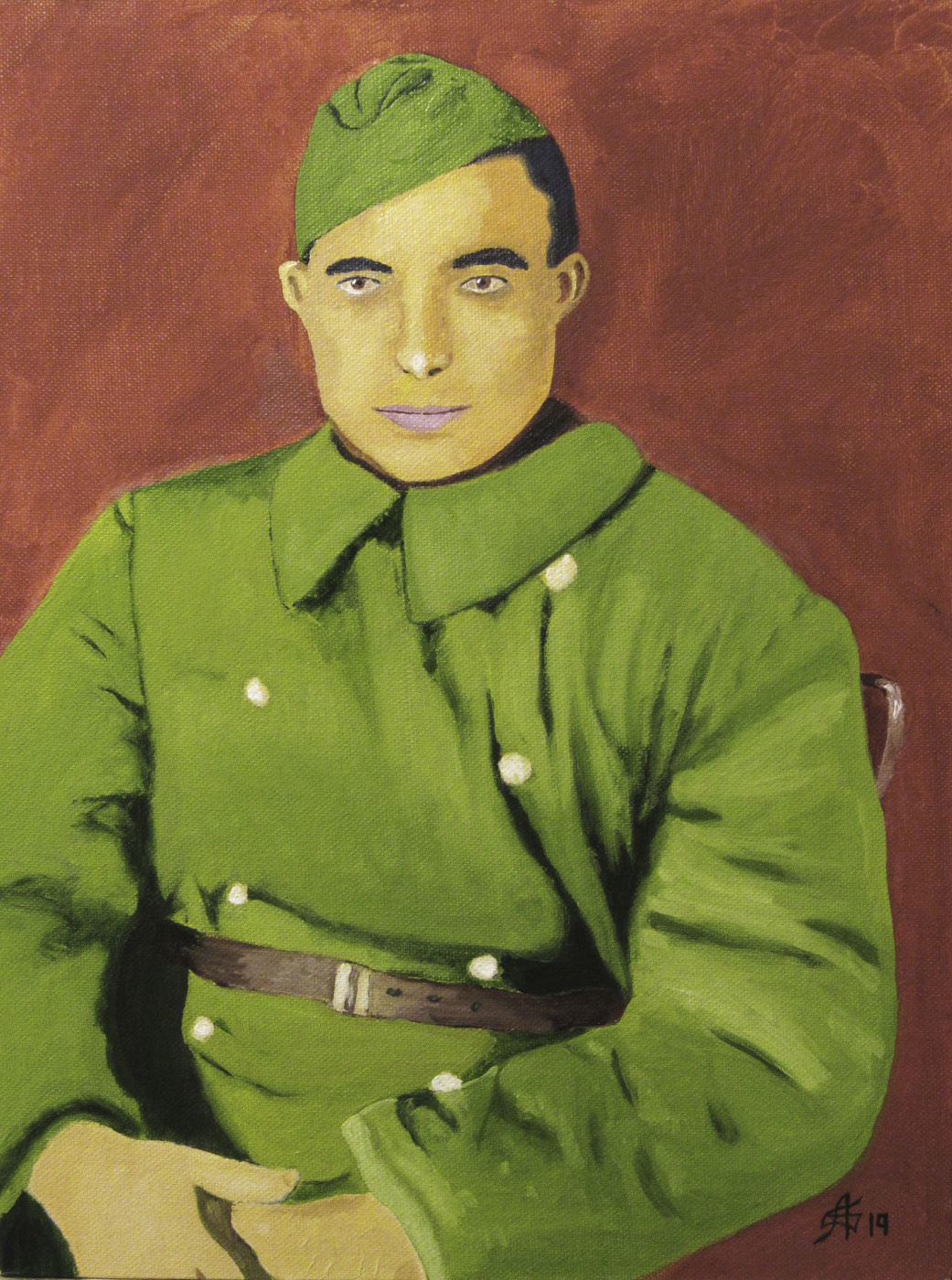 Artashes Vladimirovich Badalyan. Portrait of a grandfather - x-hardboard-m - 40x30