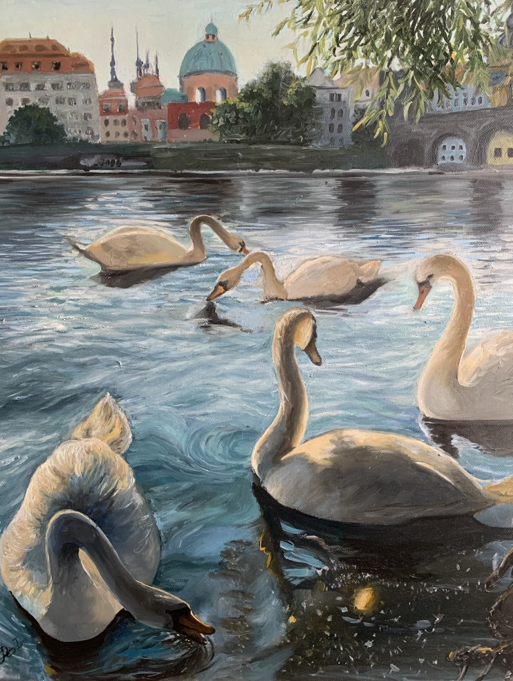 Пражские лебеди