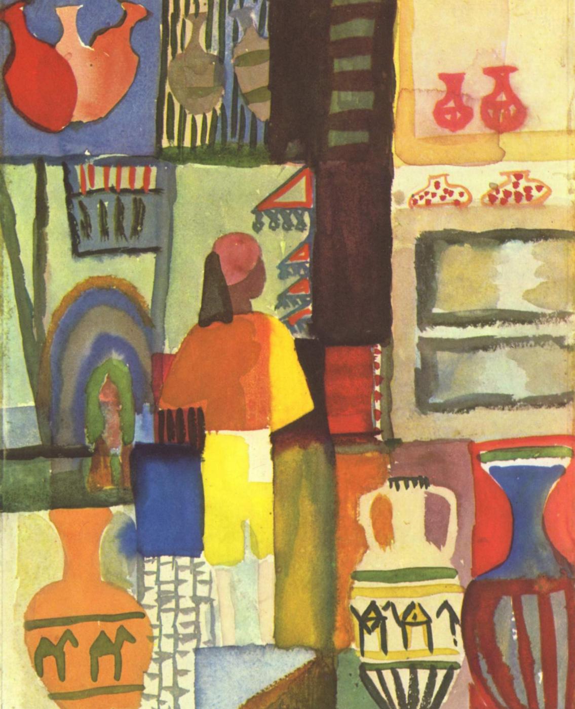 August Macke. Merchant with jugs
