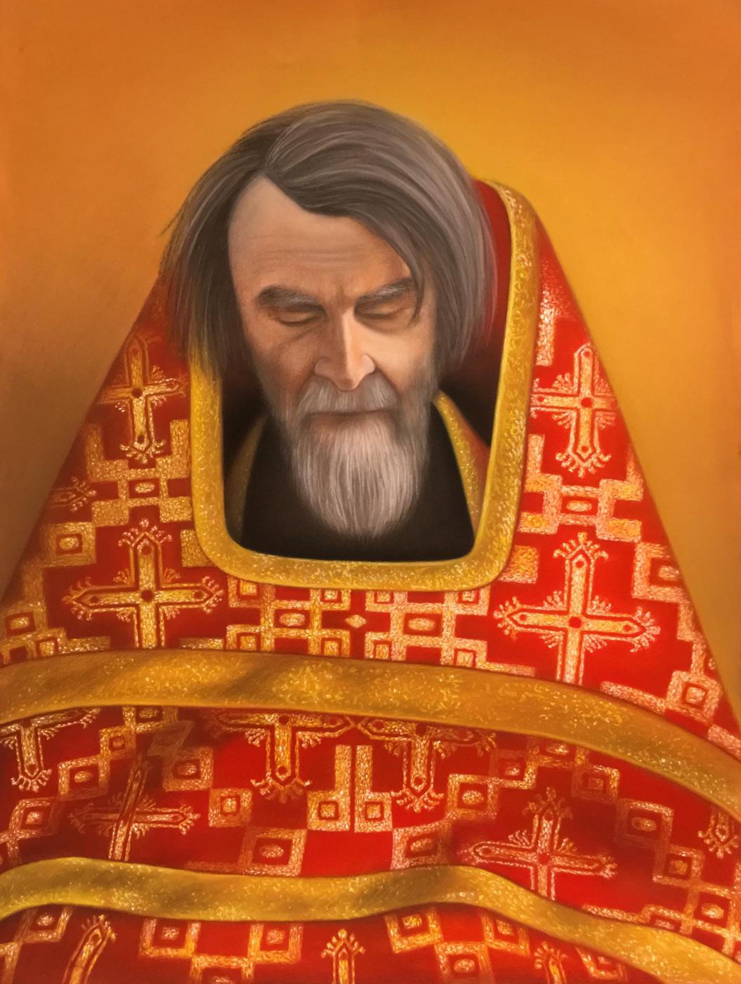 Julia Sergeevna Evtushenko. Portrait of a priest