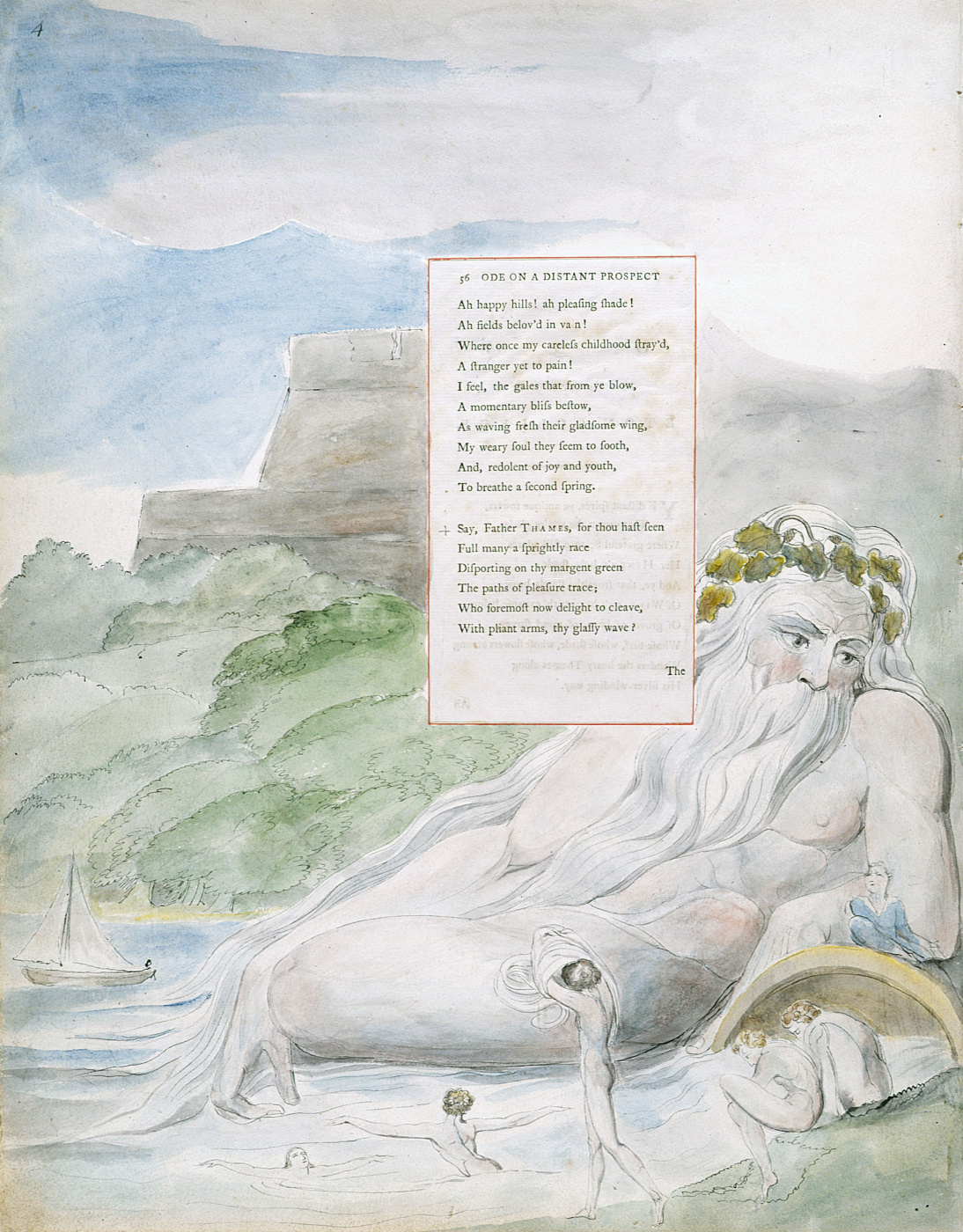William Blake. Illustrations to the poems. Ode to Eton College. Sheet 4