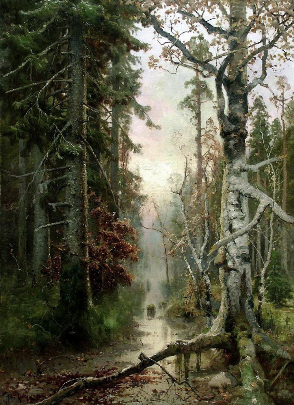 Julius Klever. Autumn in the forest