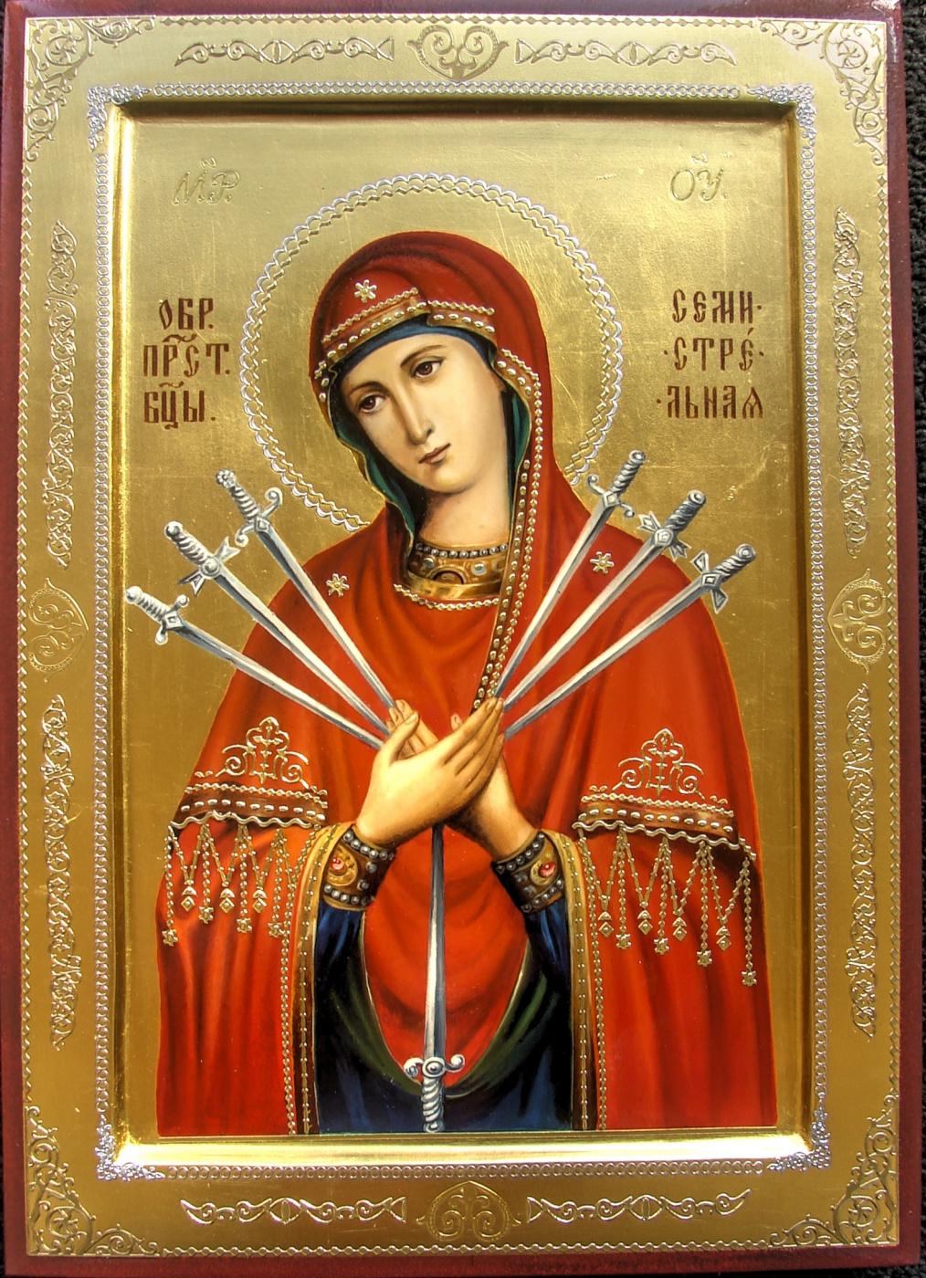 Sergey Pavlovich Kolko. Image Prvt Virgin Mary Seven Arrows