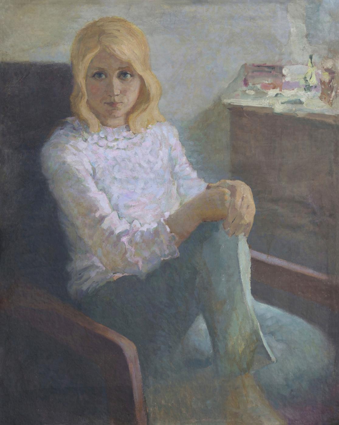 Alexandrovich Rudolf Pavlov. Portrait of a woman. Hope.