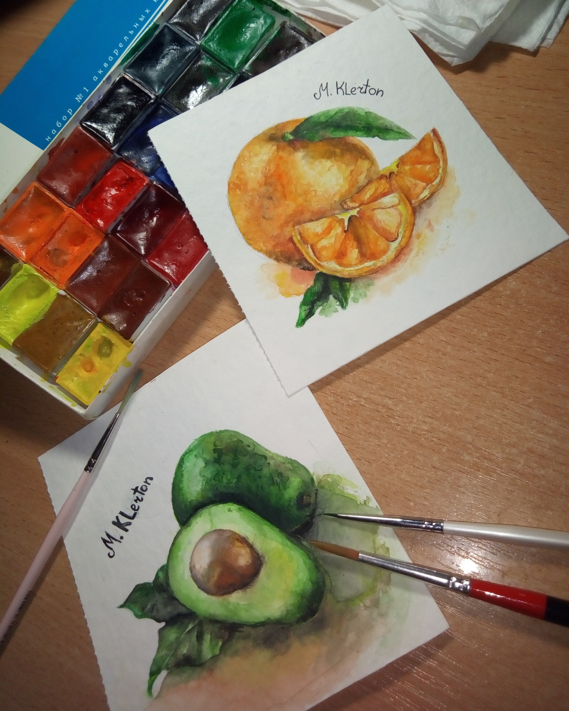 Maria Klerton. Fruit illustration