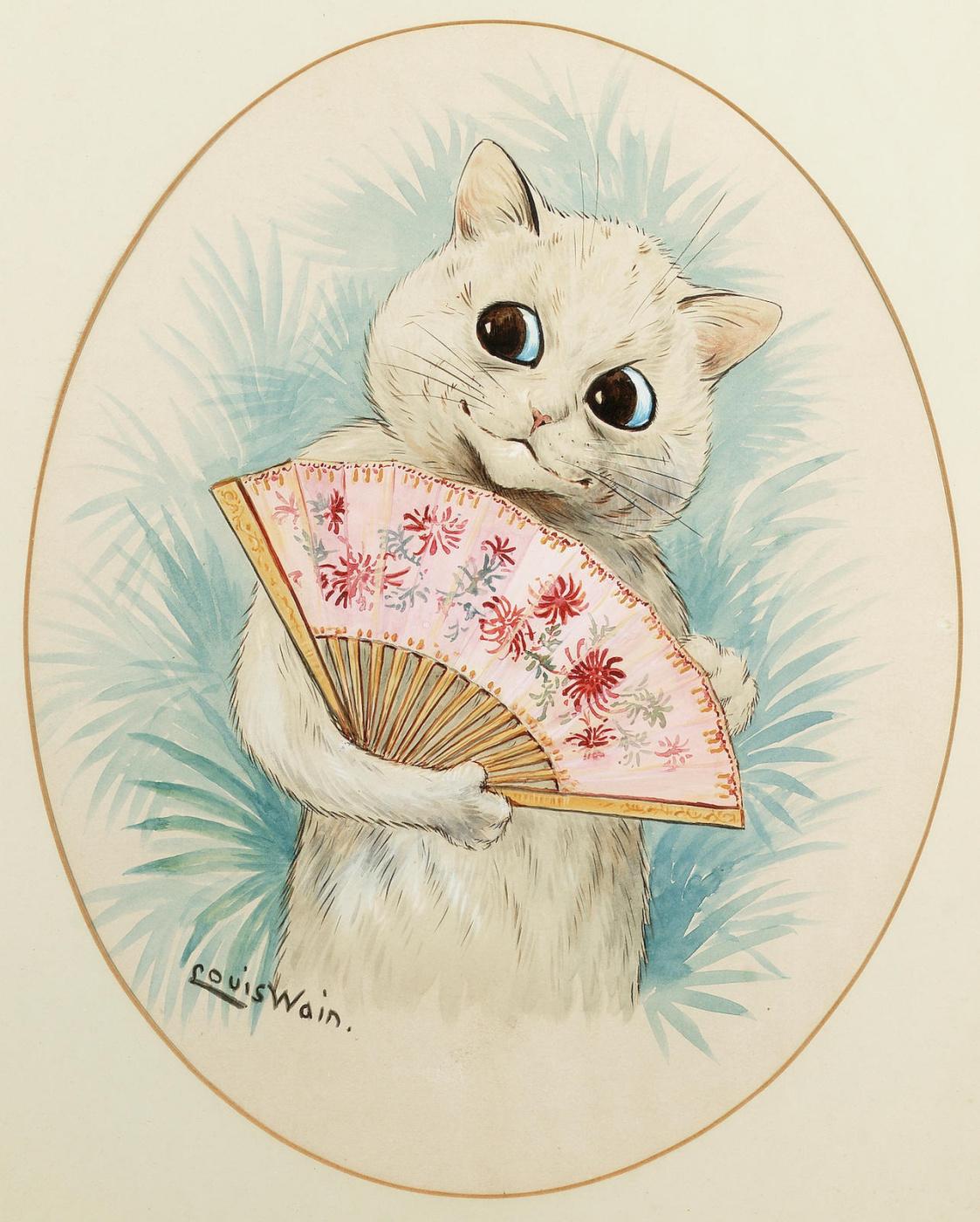 Louis Wain. Geisha