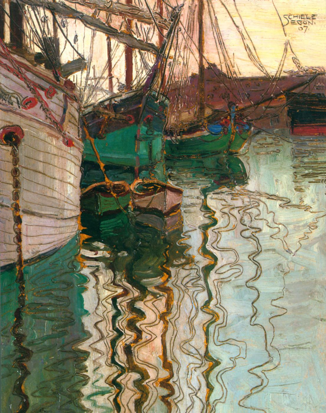 Egon Schiele. The Harbor in Trieste