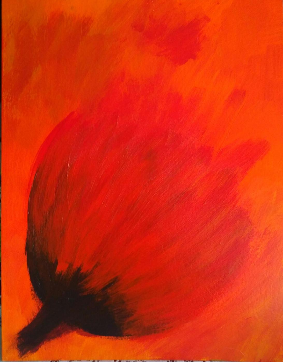 Полина Алексеевна Александрова. Red flower