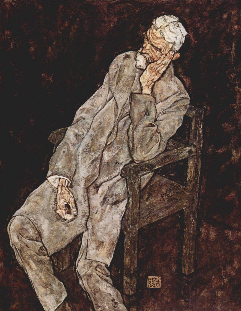 Egon Schiele. Portrait Of Johann Harms