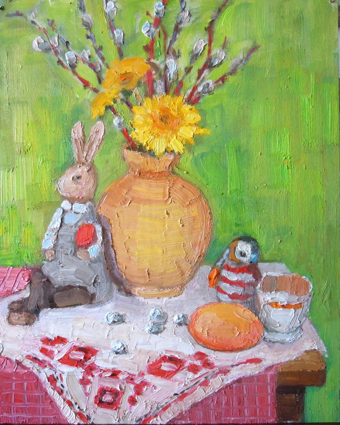 Vera Alekseevna Emelyanova. Easter still life