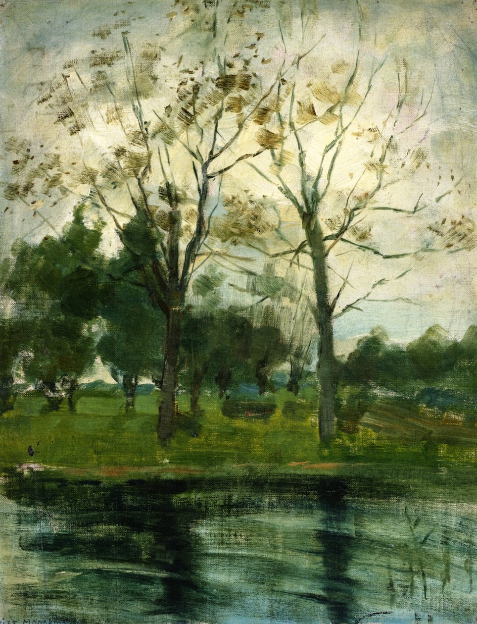 Piet Mondrian. Two trees by the river