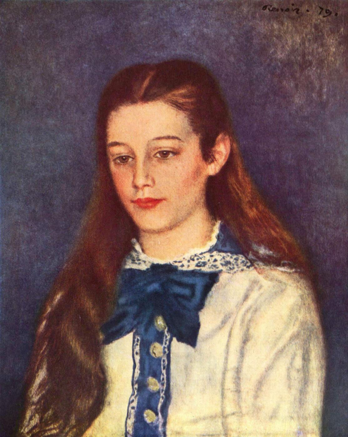Pierre-Auguste Renoir. Portrait Of Therese Berard