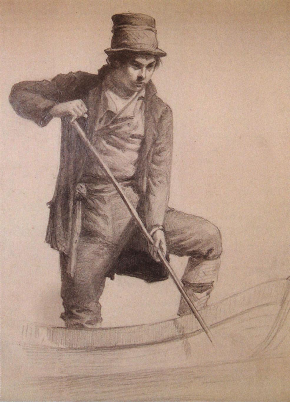 Nikolay Aleksandrovich Yaroshenko. In the boat. 1869
