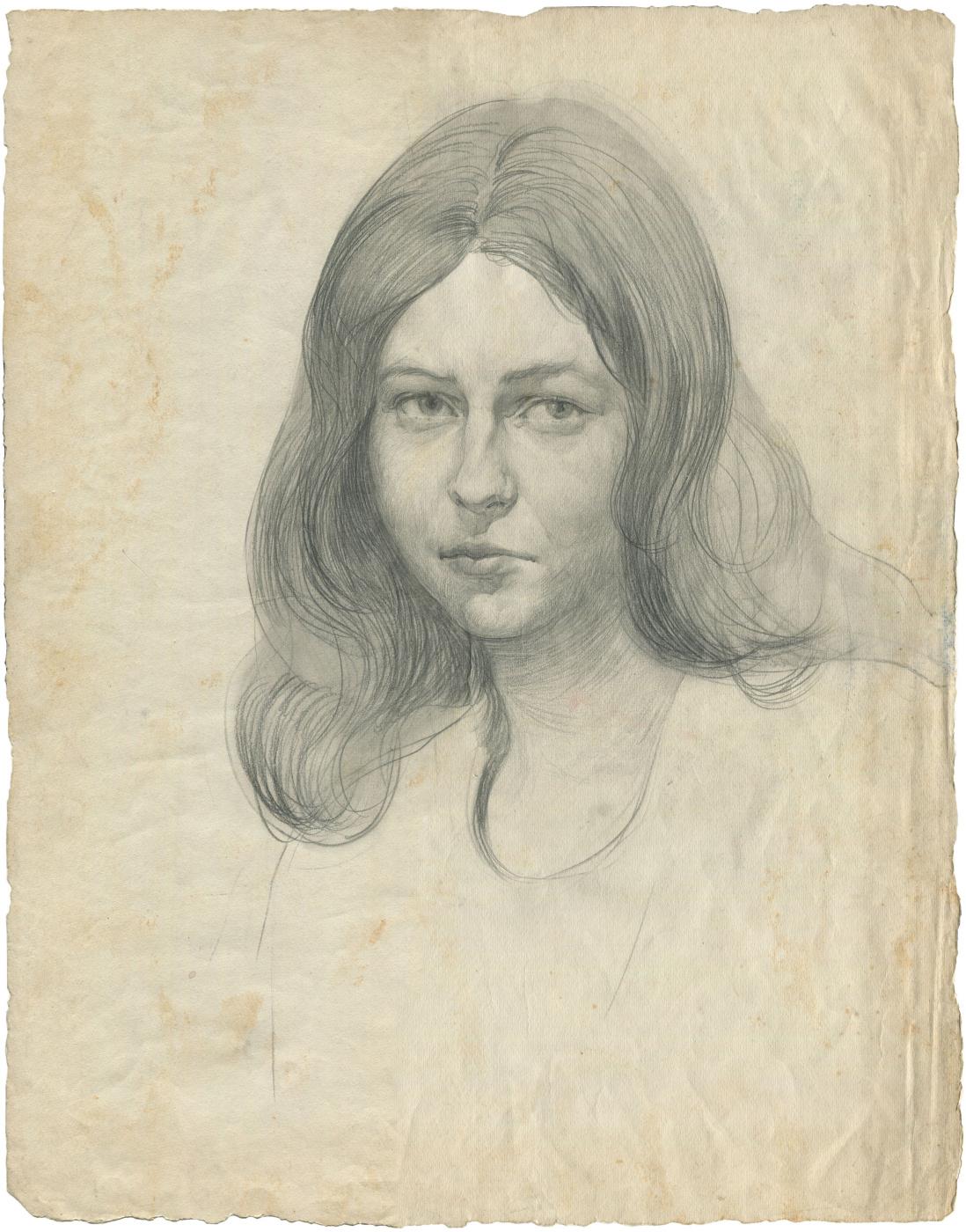 Alexandrovich Rudolf Pavlov. Portrait of a woman 2.