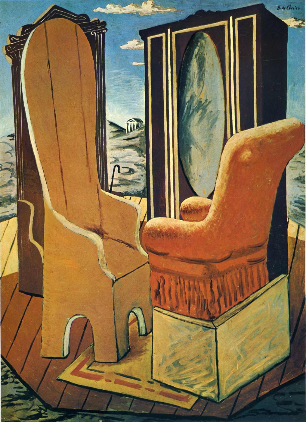 Giorgio de Chirico. Furniture in the valley