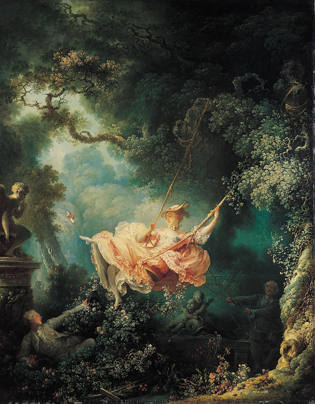 Jean-Honore Fragonard. Swing (Happy swing)