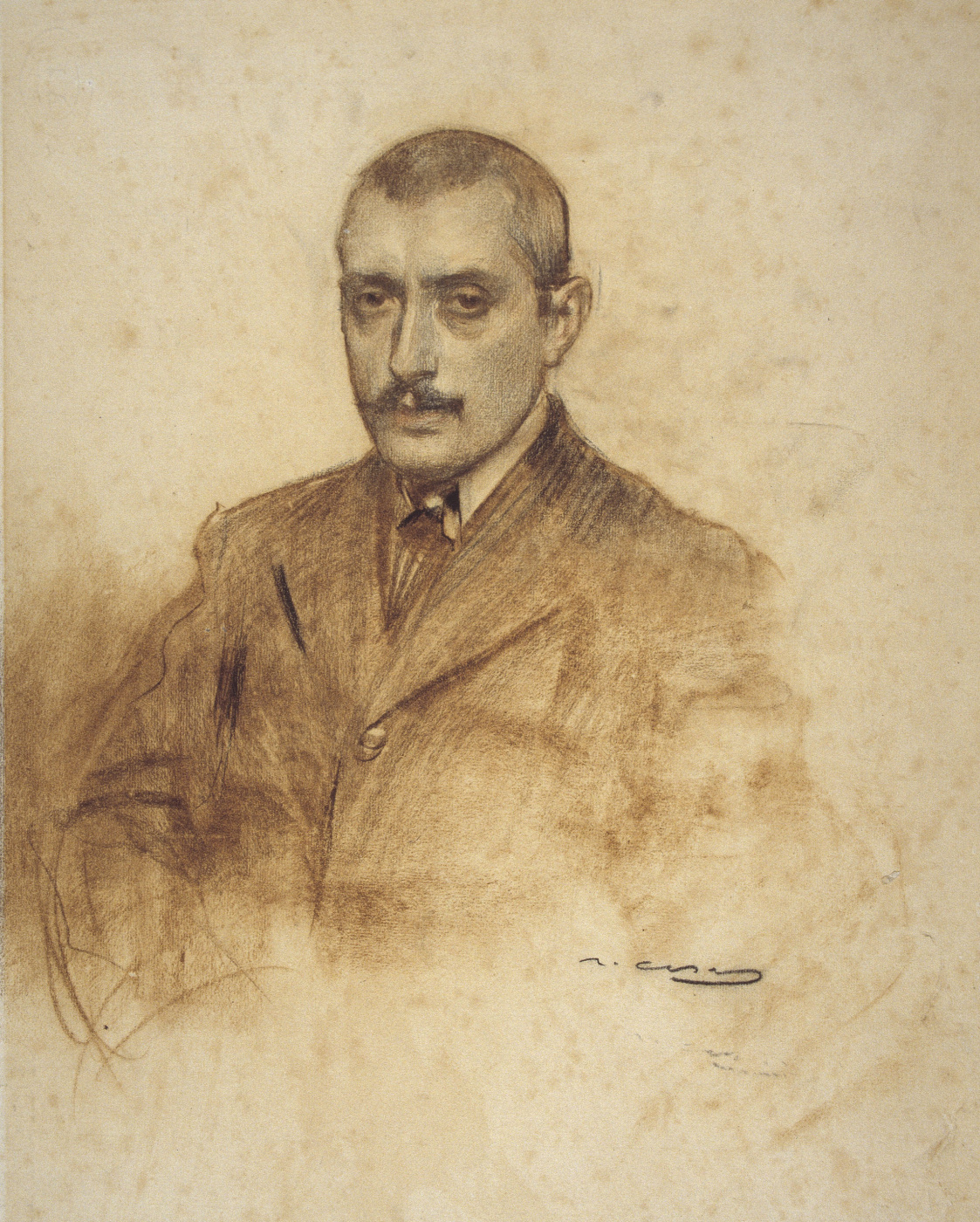 Ramon Casas i Carbó. Portrait of Salvador Alarmo