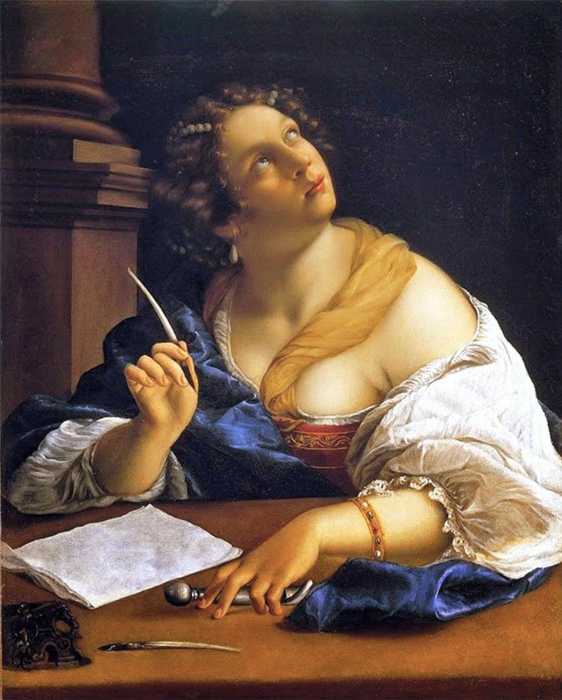 Artemisia Gentileschi. Allegory of rhetoric
