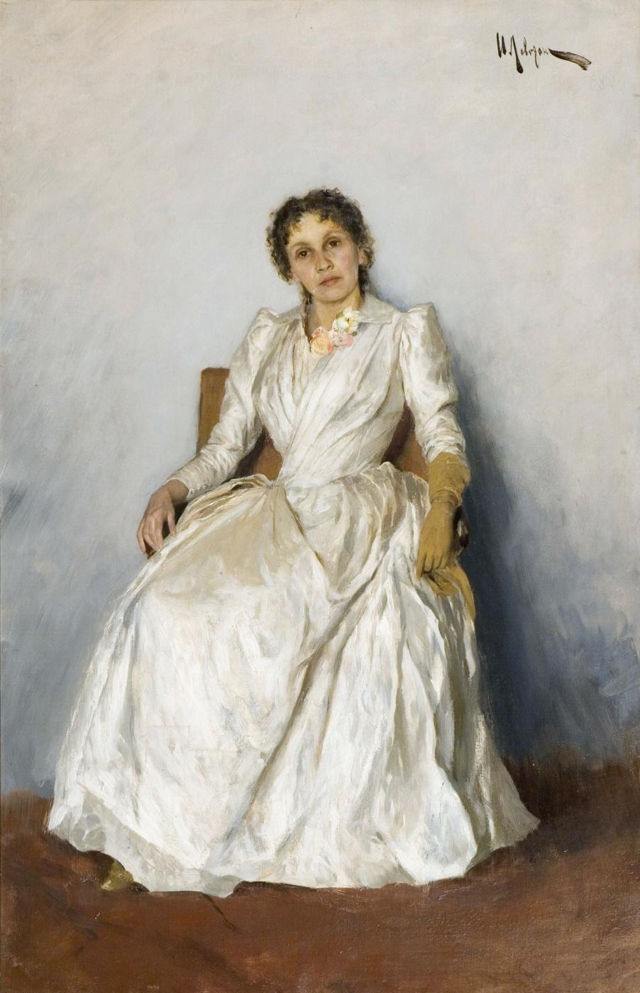 Isaac Levitan. Portrait Of Sofia Petrovna Kuvshinnikova