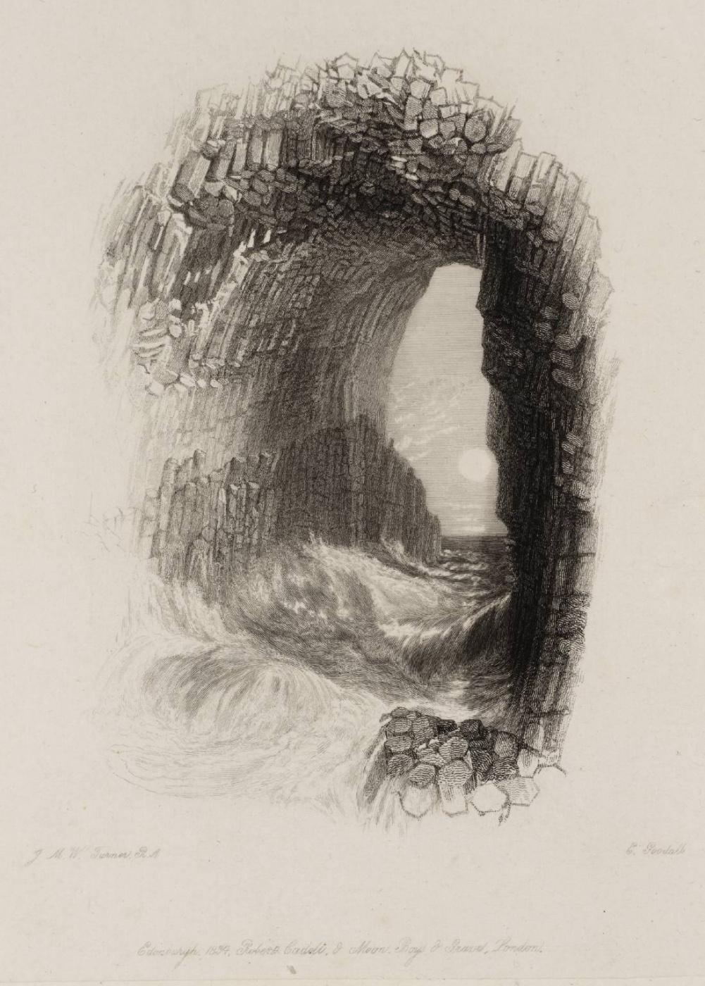 Joseph Mallord William Turner. Fingarova cave, Staffa