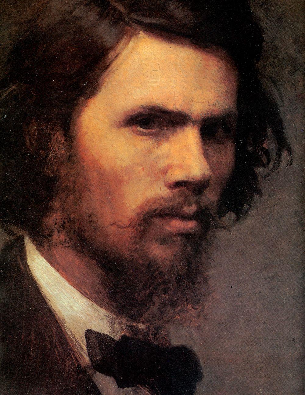 Ivan Nikolayevich Kramskoy. A self-portrait. Fragment